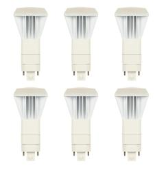 26 watt equivalent vpl vertical direct install dimmable 3500k g24q gx24q 4 pin led light bulb 6 pack  [ 1000 x 1000 Pixel ]