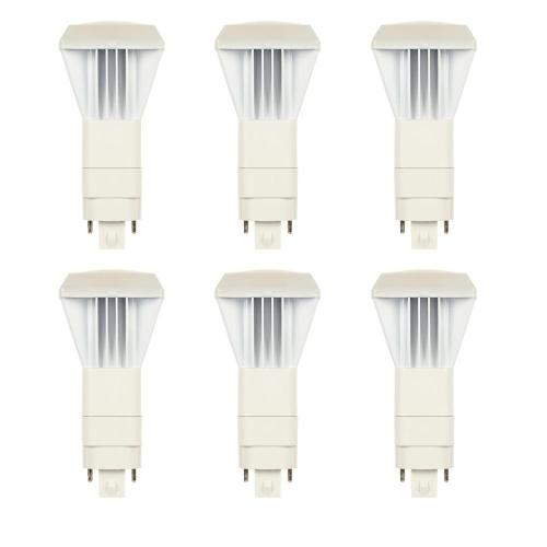 small resolution of 26 watt equivalent vpl vertical direct install dimmable 3500k g24q gx24q 4 pin led light bulb 6 pack
