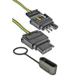 reese towpower 4 wire flat insta plug kit [ 1000 x 1000 Pixel ]