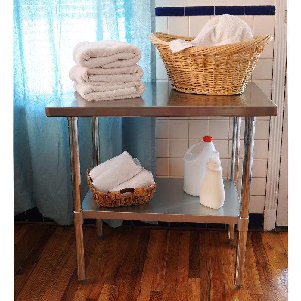 steel kitchen table arhaus sportsman stainless utility sswtable36 the