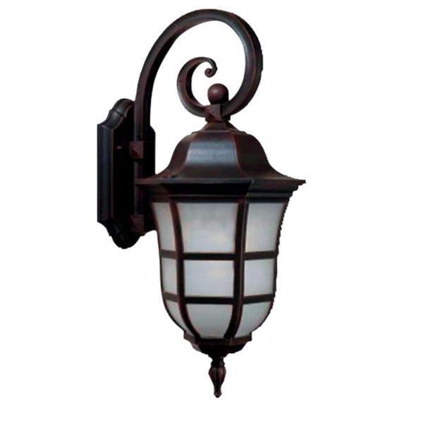 Beldi Vail Collection 1-light Black Outdoor Wall Lantern-1781-wdown - Home Depot