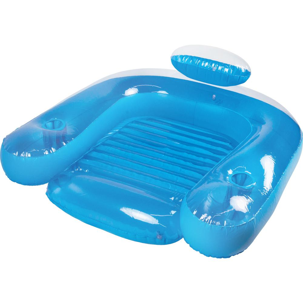 chair pool floats navy blue leather and ottoman poolmaster paradise swimming float 85598 the home depot