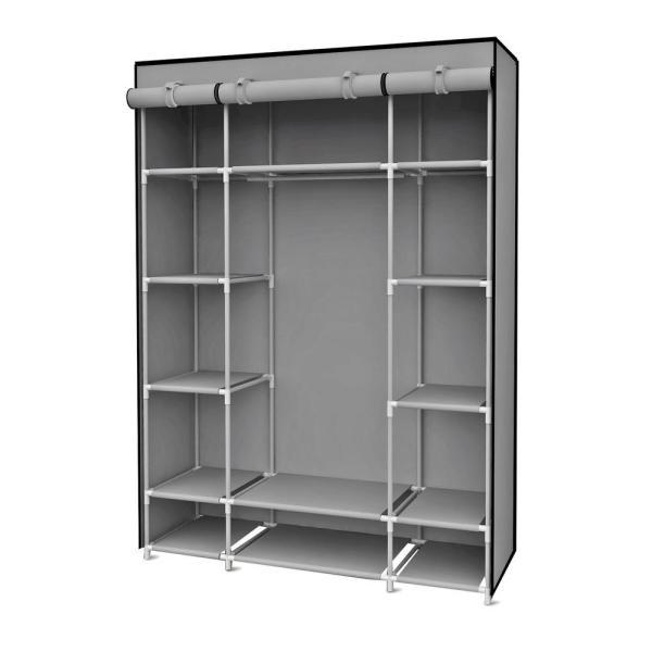 Sunbeam 67 In. Gray Storage Closet With Shelving-sc01506