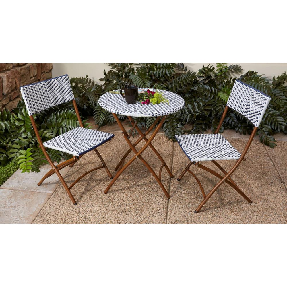 Outdoor French Bistro Chairs Hampton Bay French Caf 3 Piece Wicker Outdoor Folding Bistro Set