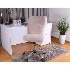 Fluffy Desk Chair Leg Sleeves Office Chairs Home Furniture The Furry Cream Tiffany