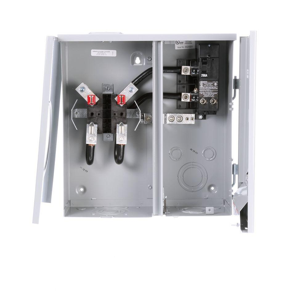 hight resolution of 200 amp 2 space 2 circuit 4 jaw overhead underground outdoor meter main