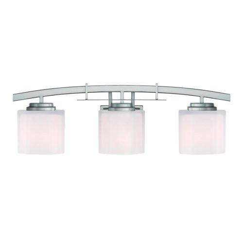 small resolution of hampton bay architecture 3 light brushed nickel vanity light with etched white glass shades