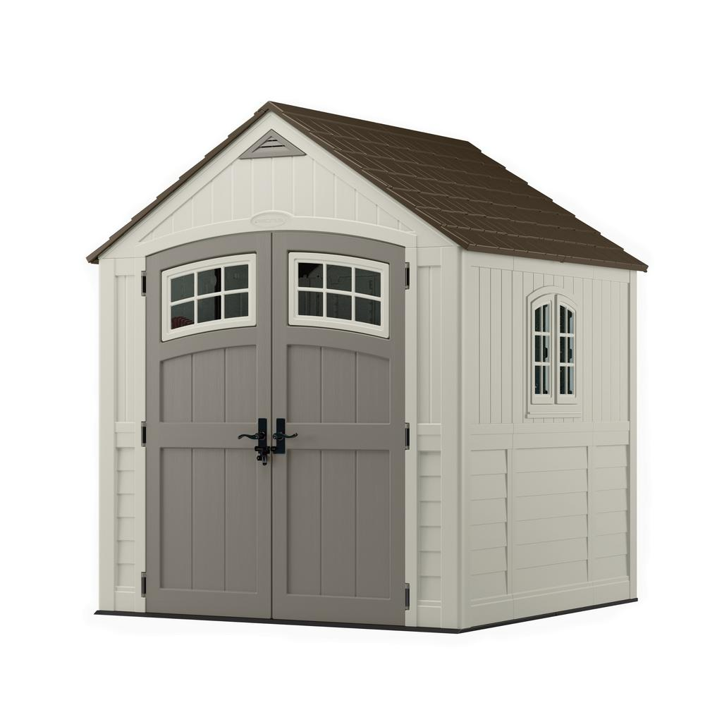 medium resolution of cascade 7 ft 3 in x 7 ft 4 5 in resin storage shed
