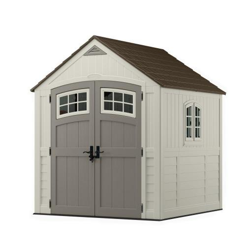 small resolution of cascade 7 ft 3 in x 7 ft 4 5 in resin storage shed