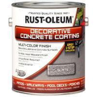 Rust-Oleum Concrete Stain 1- gal. Slate Decorative ...
