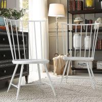 HomeSullivan Walker White Wood and Metal High Back Dining ...