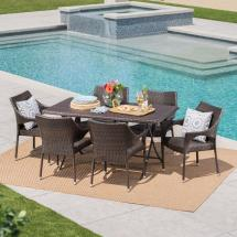 Noble House Madeleine Multi-brown 7-piece Wicker Outdoor
