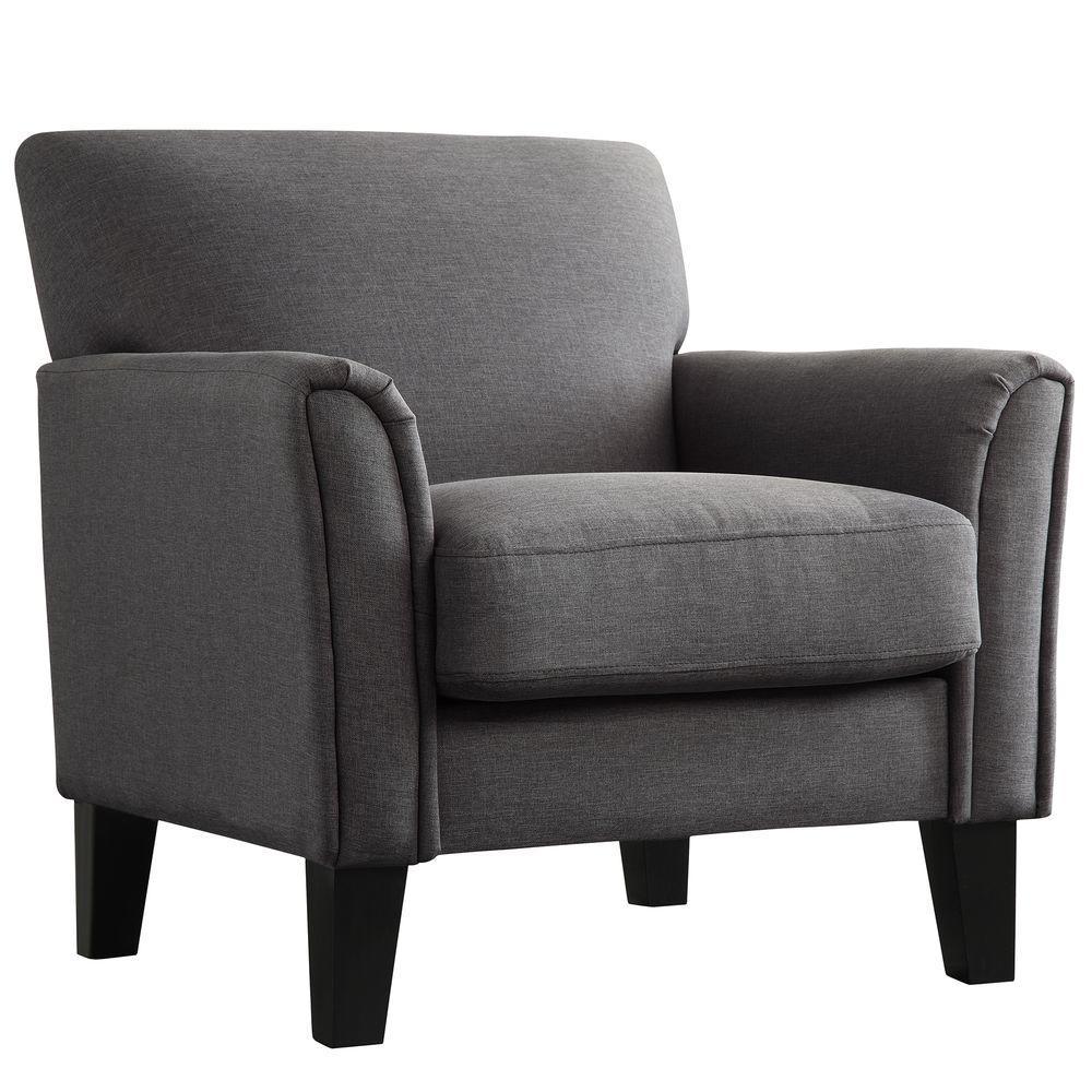 Comfortable Arm Chair Charcoal HomeSullivan Durham Gray