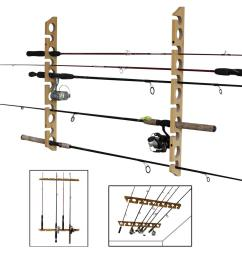11 fishing rod versatile 3 in 1 wall and ceiling storage rack [ 1000 x 1000 Pixel ]