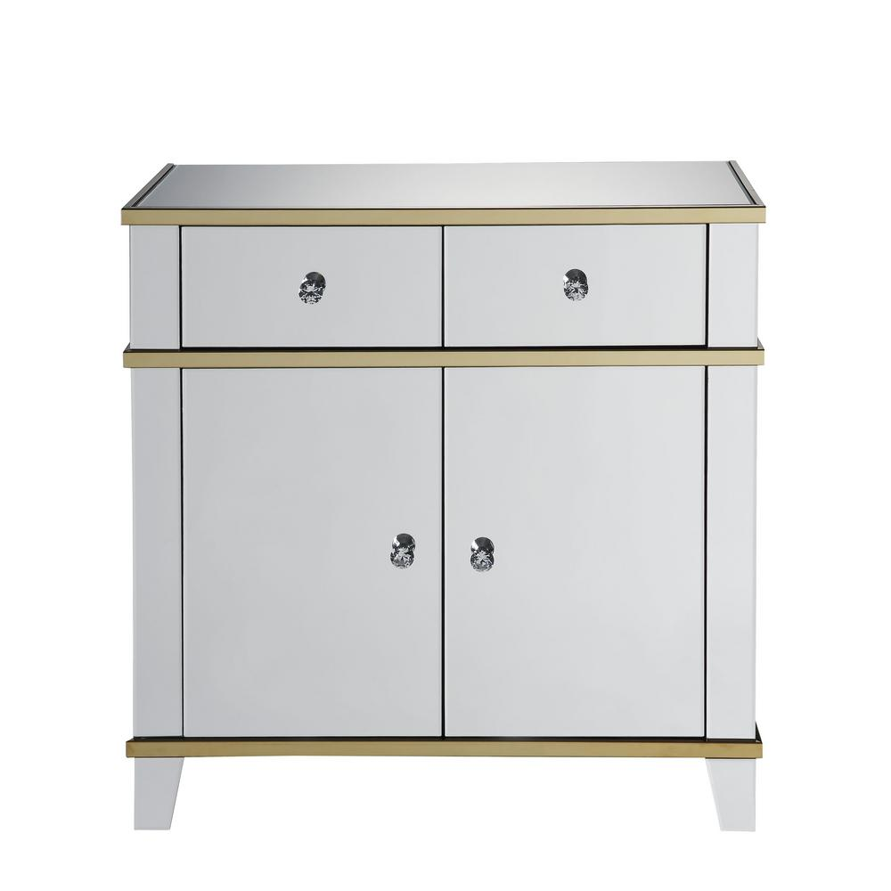 living room console tables mirrored light yellow design acme furniture osma and gold table 97432 the home