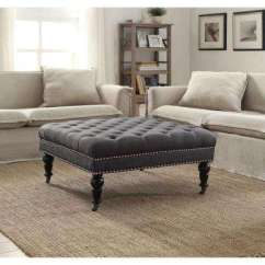 Ottoman Tables Living Room Images Of Traditional Rooms Ottomans Furniture The Home Depot Isabelle Charcoal Accent