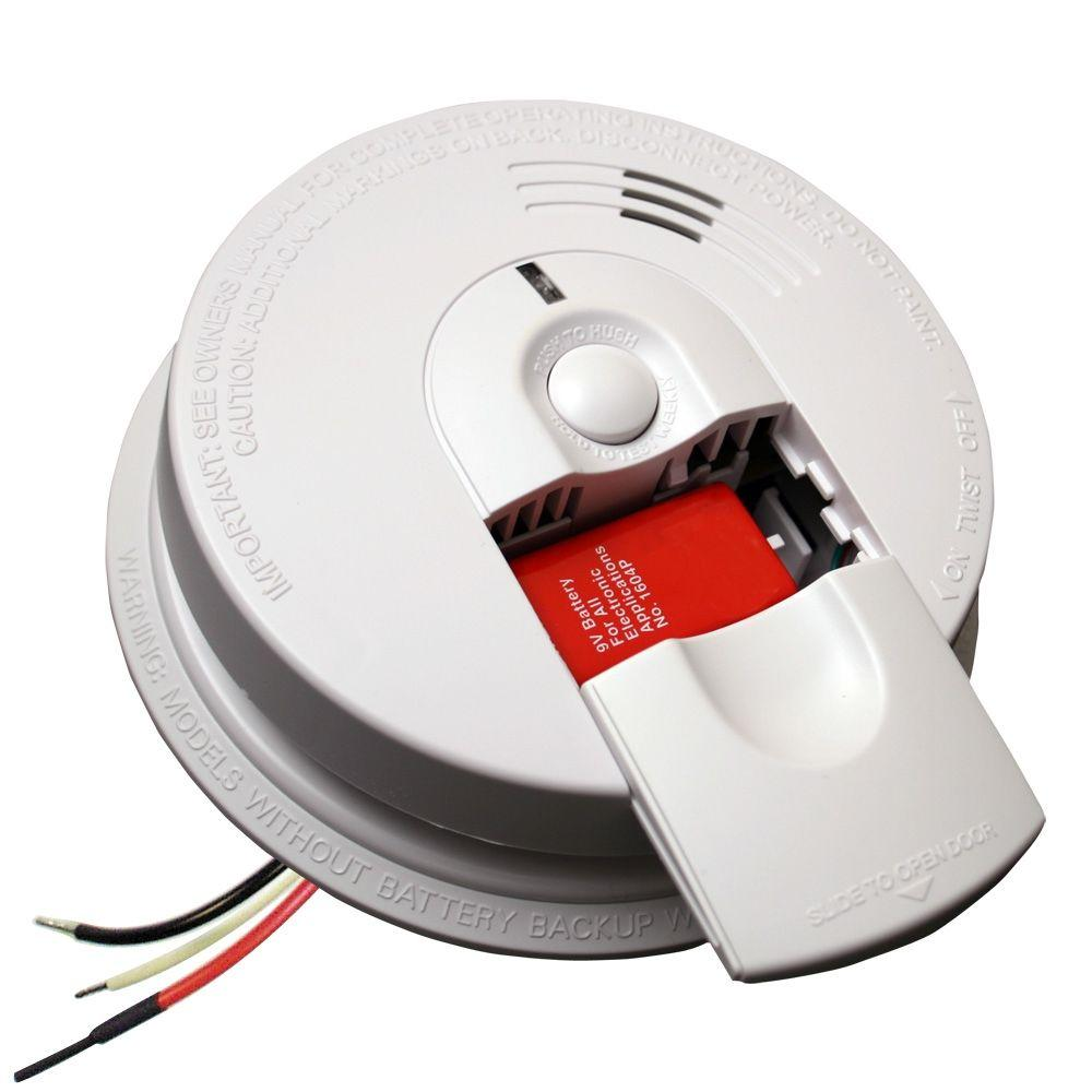 hight resolution of firex hardwire smoke detector with 9v battery backup and front load battery door