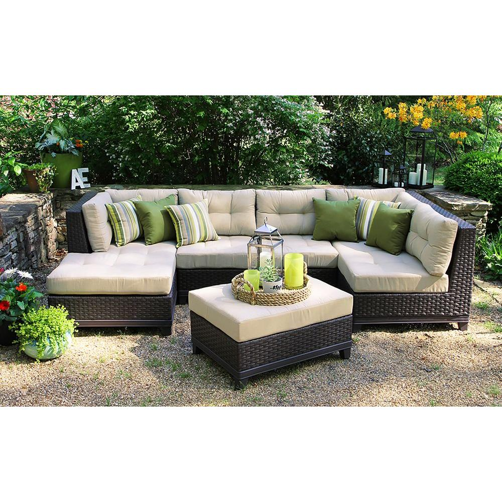 sunbrella fabric sectional sofas stylish sofa covers ae outdoor hillborough 4 piece all weather wicker patio with