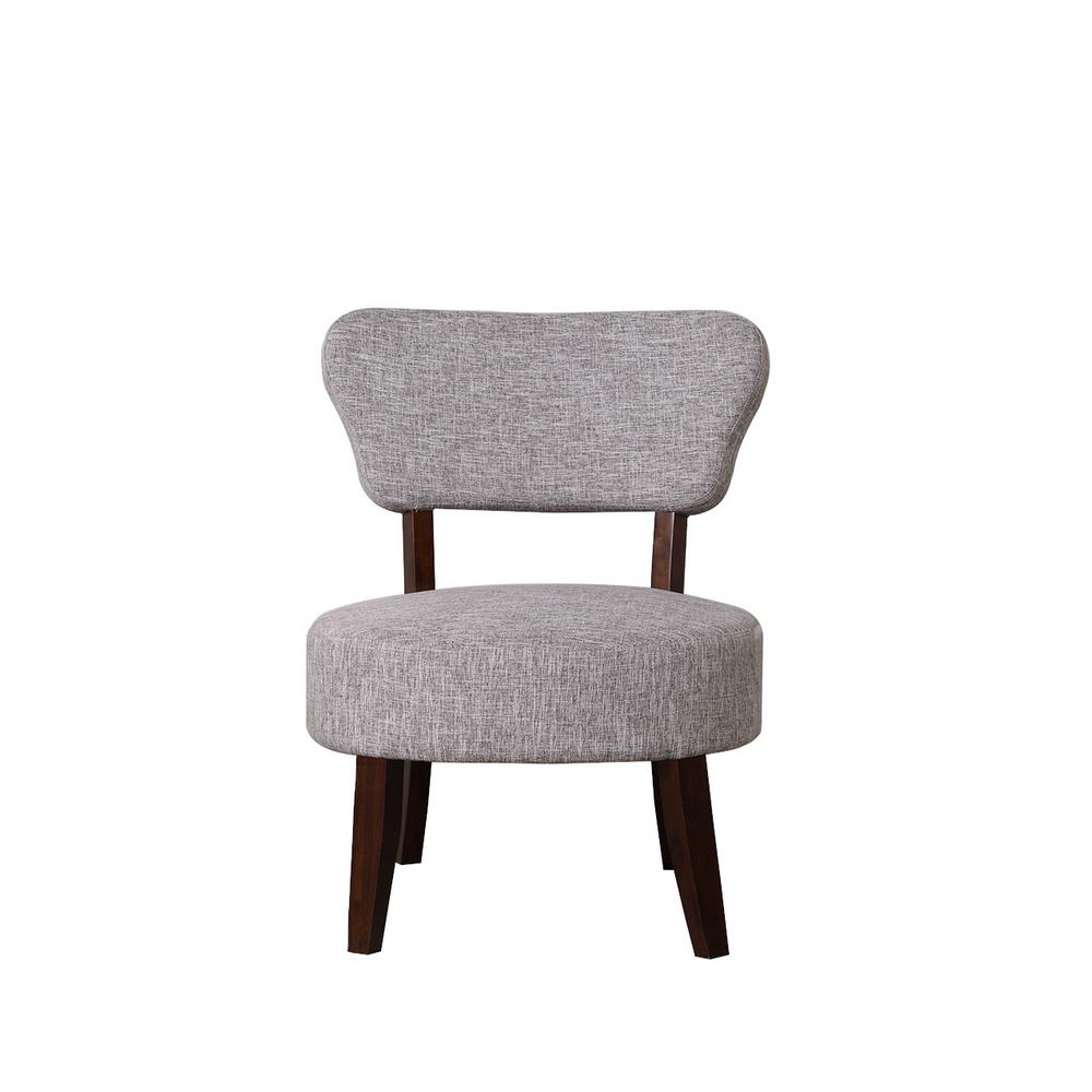 grey and white accent chair desk chairs for teens gray round seat 92014 16gw the home depot