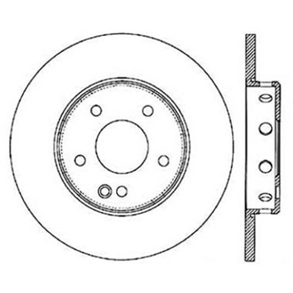 Centric Disc Brake Rotor 1997-1998 Mercedes-Benz C230 2.3L