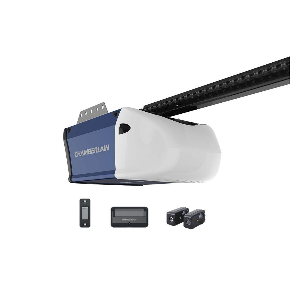 medium resolution of 1 2 hp chain drive garage door opener