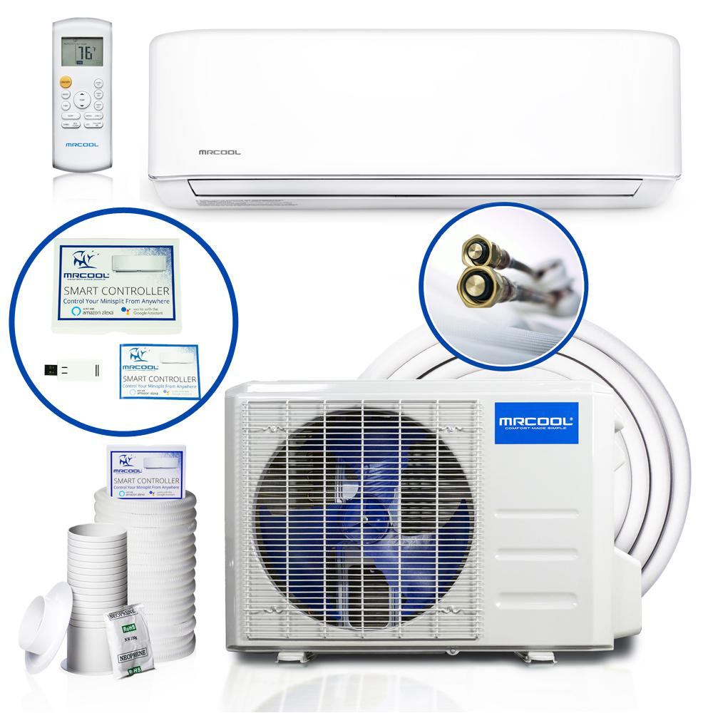 hight resolution of diy enhanced 34 400 btu ductless mini split air conditioner and heat pump 208 230v 60hz