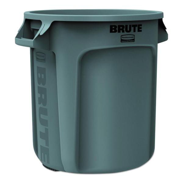 Rubbermaid Commercial Products Brute 10 Gal. Grey Trash -rcp2610gra - Home Depot