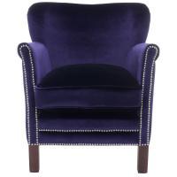 HomeSullivan Purple Velvet Chair with Ottoman-40876S350S ...