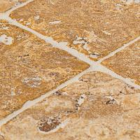 MSI Ivory 4 in. x 4 in. Honed Travertine Floor and Wall ...
