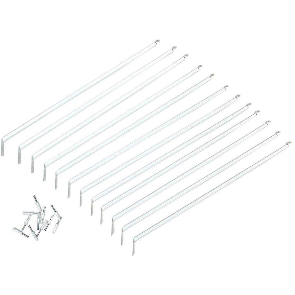 ClosetMaid ShelfTrack 84 in. x 1 in. White Standard For