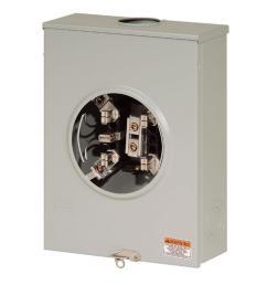 eaton 100 amp single meter socket ughtrs101bch the home depot 100 amp meter socket wiring [ 1000 x 1000 Pixel ]