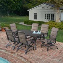 Royal Garden River Oak 7-piece Outdoor Dining Set Padded