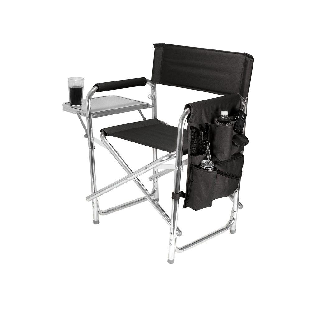 Sturdy Camping Chair Picnic Time Black Sports Portable Folding Patio Chair