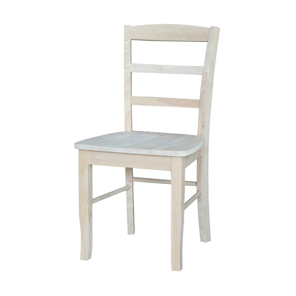 ladderback dining chairs chair covers for sale adelaide international concepts unfinished madrid set of 2 c 2p the home depot
