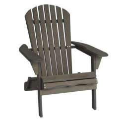Gray Adirondack Chairs Small Kitchen Table And Set Patio The Home Depot Villaret Folding Wood Chair