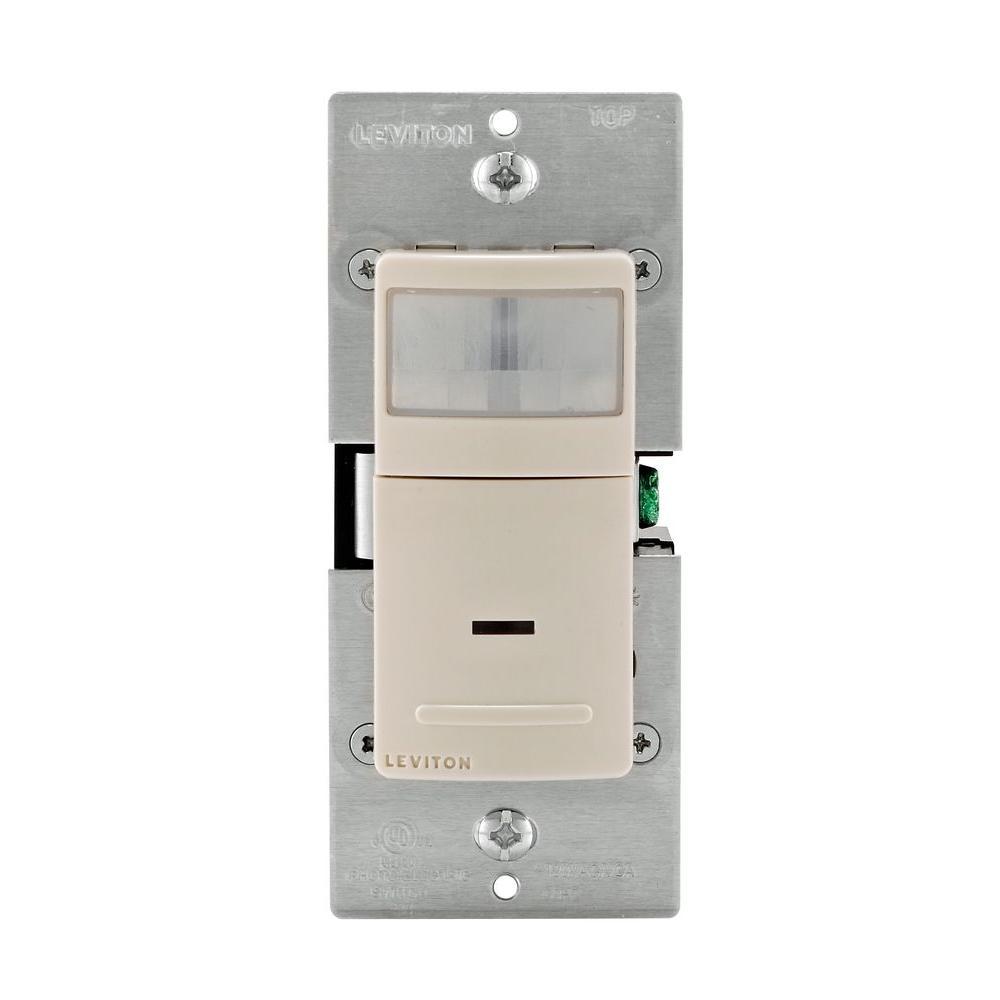 medium resolution of decora motion sensor in wall switch auto on 2 5 a single pole light almond