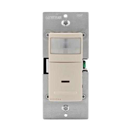 small resolution of decora motion sensor in wall switch auto on 2 5 a single pole light almond