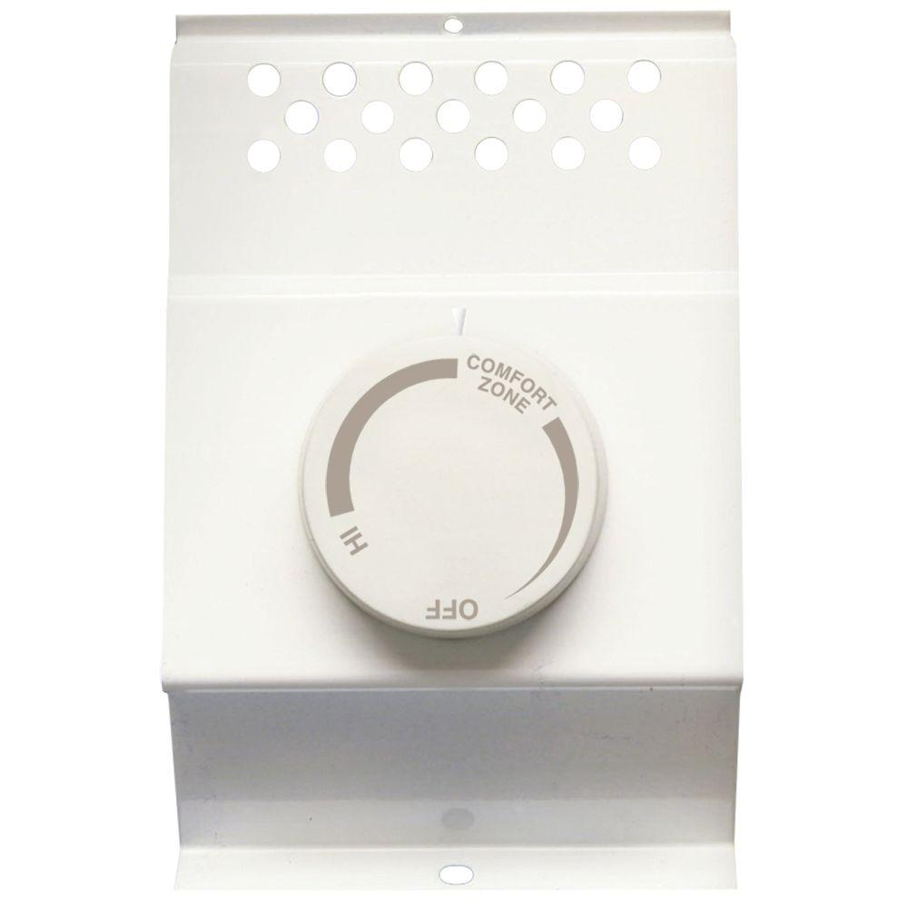 hight resolution of double pole electric baseboard mount mechanical thermostat in white