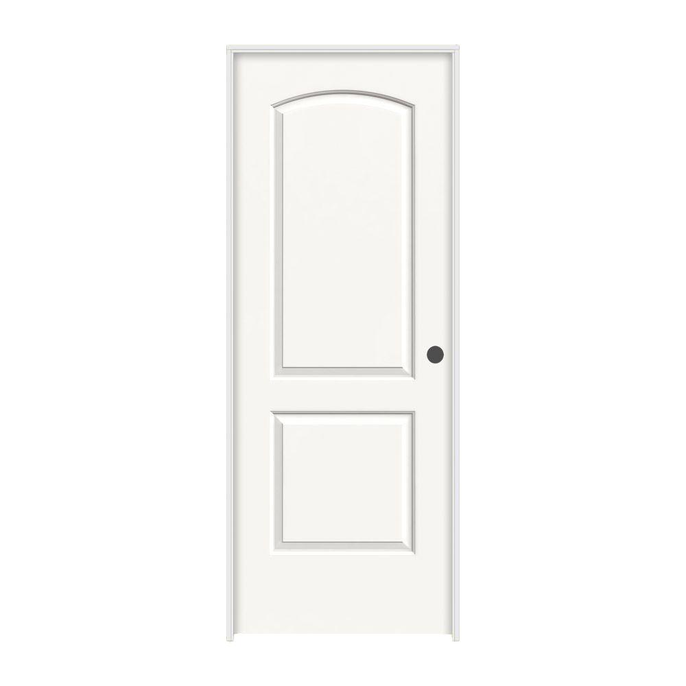 JELD-WEN 28 in. x 80 in. Continental White Painted Left