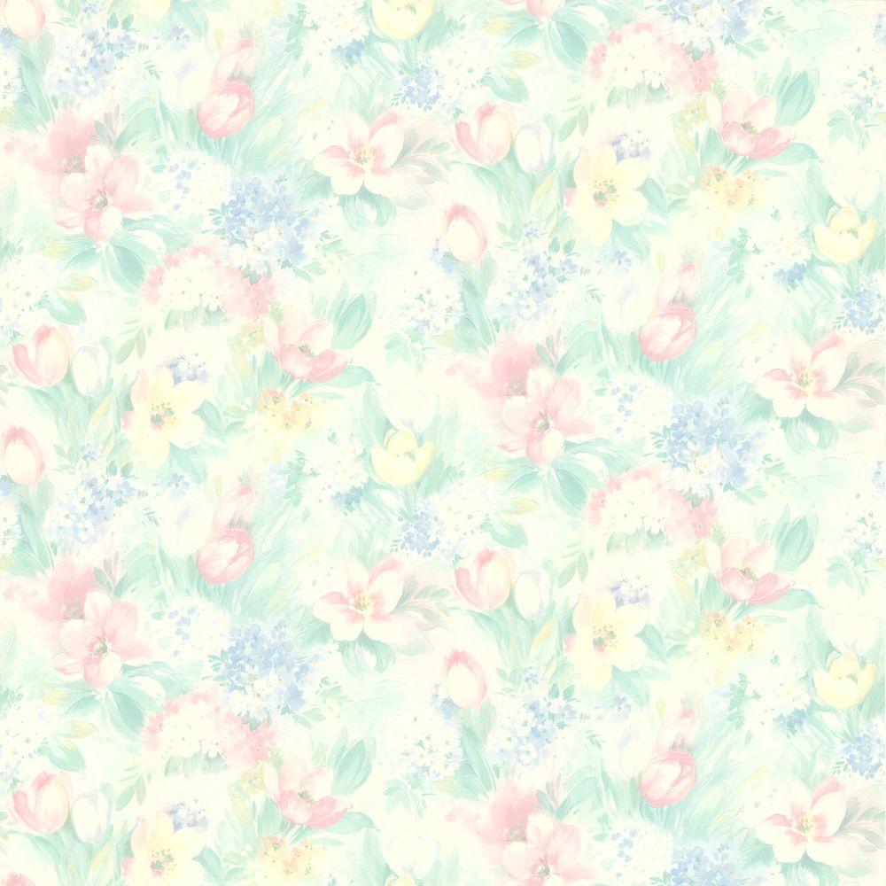 Georgia Pastel Floral Motif Wallpaper