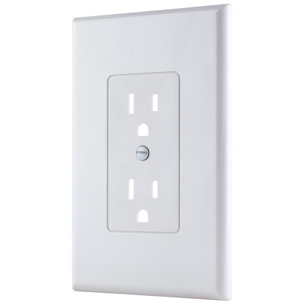 medium resolution of 1 gang decorator plastic wall plate white smooth