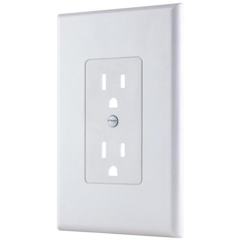 small resolution of 1 gang decorator plastic wall plate white smooth