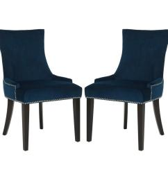 lester navy espresso 19 in h dining chair set of 2  [ 1000 x 1000 Pixel ]