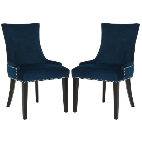 small resolution of lester navy espresso 19 in h dining chair set of 2
