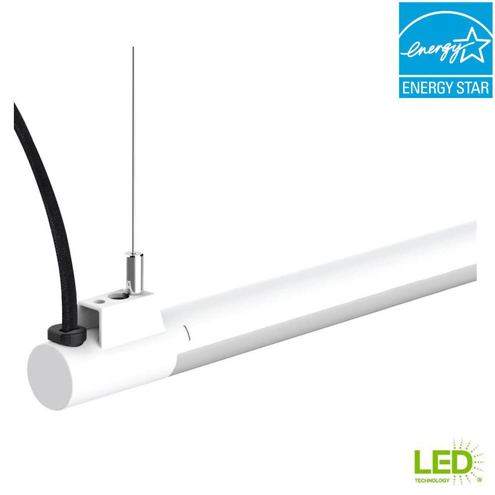 hight resolution of 1 light 19 watt white integrated led utility shop