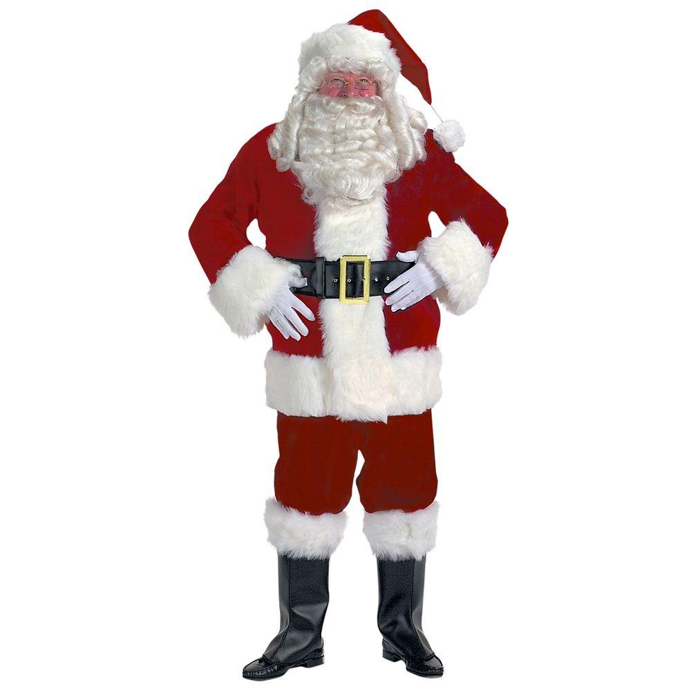 Halco Velvet Santa Suit Costume For Adults 7091h The Home Depot