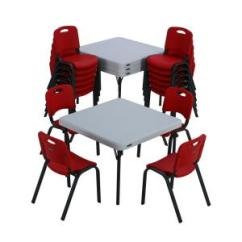 Lifetime Chairs And Tables Black White Chevron Accent Chair 20 Piece Red Children S Table Set 80555 2