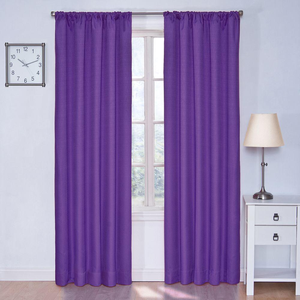 Eclipse Kendall Blackout Purple Curtain Panel 84 in