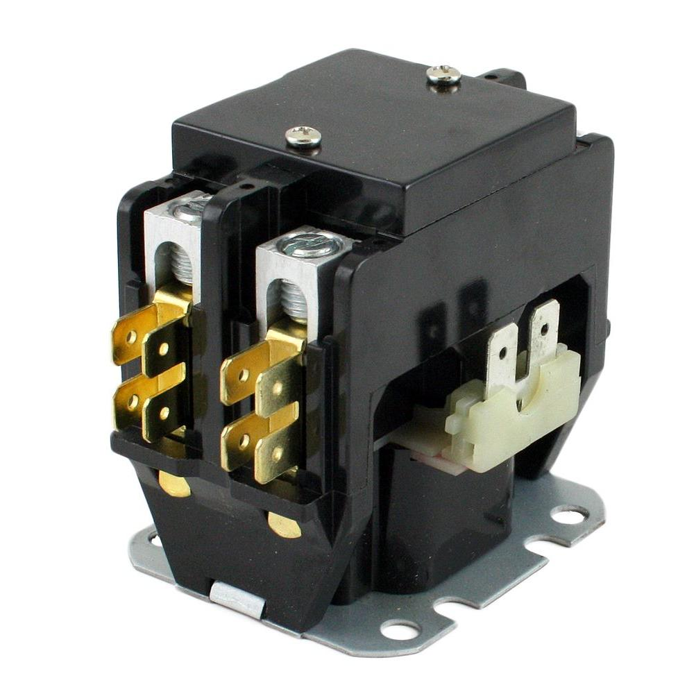 3 pole contactor 120v coil wiring diagram for a honeywell digital thermostat packard 24-volt coil-voltage f/l-amp 40 2 res 50-amp definite purpose contactor-c240a - the ...