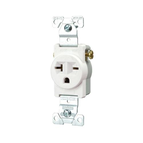 small resolution of eaton commercial grade 20 amp straight blade single receptacle with side wiring white